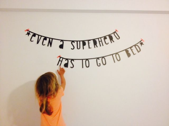 #Wordbanner #tip - Even a superhero has to go to bed - Buy it at www.vanmariel.nl - € 11,95