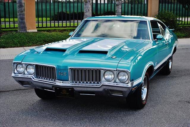 1970 Oldsmobile 442, oldsmobile, history, vehicle, blue, wheels, transportation, photograph, road, photo