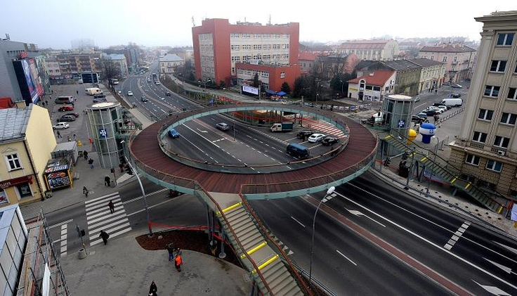 roundabout for pedestrians (Rzeszow in Poland)