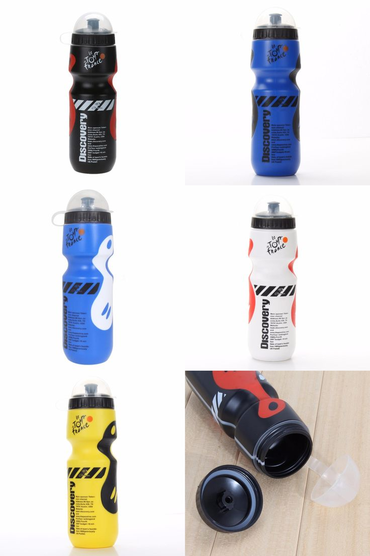 [Visit to Buy] 750ML Portable Sports Water Bottle Camping Cycling Bicycle Plastic Flask Outdoor Bike Kettle Riding Cup Accessories 8 Colors #Advertisement