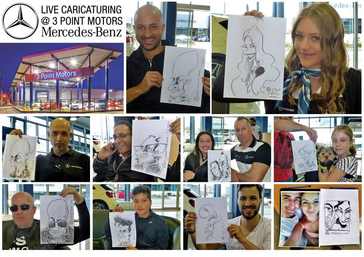 Caricaturing at 3 Point Motors
