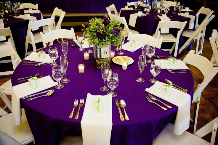 Centerpiece 1 Purple Tablecloth Wedding And Weddings