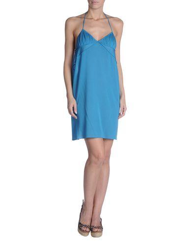 ¡Cómpralo ya!. JUST CAVALLI BEACHWEAR Vestido de playa mujer. punto jersey, sin aplicaciones, monocolor, cierre con cordones , sin bolsillo , vestidoinformal, casual, informales, informal, day, kleidcasual, vestidoinformal, robeinformelle, vestitoinformale, día. Vestido informal  de mujer color azul claro de JUST CAVALLI BEACHWEAR.