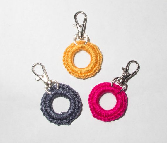 Crochet stitch markers - handmade knitting stitch markers, removable stitch markers, set of three markers, clip hooks markers, supplies