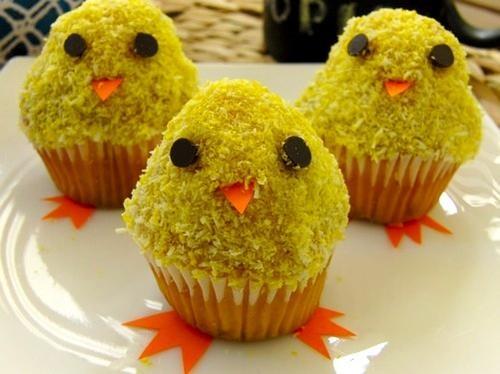 """Acompaña tu #mona de Pascua con unos simpáticos Pollitos de #cupcake. En """"El Blog de Marta"""""""