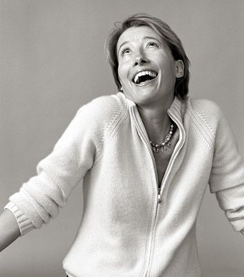 Emma Thompson - one of my top favorites!  Beautiful, talented, funny, creative, and fantastically cheeky Brit!  :)
