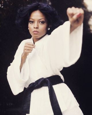 """Did you know? Did you know that Diana Ross held a black belt in Karate? She was trained by Robb Hogan, he was known as """"Dragon,"""" He stood 5 feet 11, and weighed about 350 pounds and was built like a giant rugby ball. He held a fifth-degree black belt in karate, and ran a master karate school in Detroit, called Dragon 8, where he trained over 100 black belt holders. #dianaross #blackgirlsrock #blackwomen #sistah #women #ebony #blacklivesmatter #icon #legend credit: vintage Africa..."""