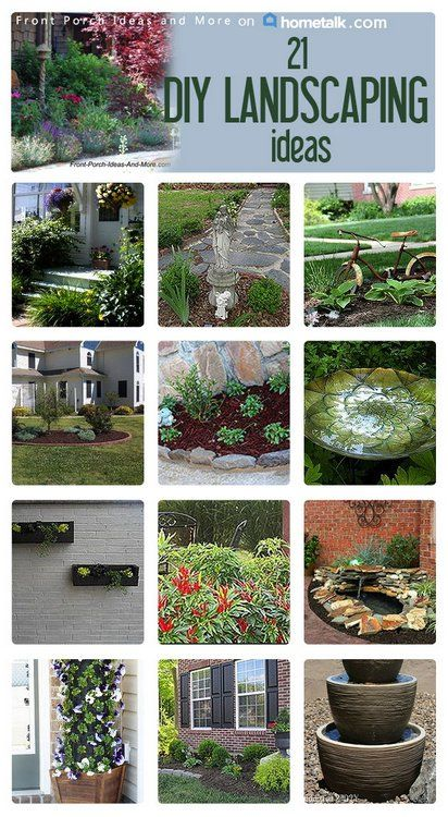 #21 DIY Year Round Landscaping ideas that are achievable and affordable !. Curated by Front Porch Ideas