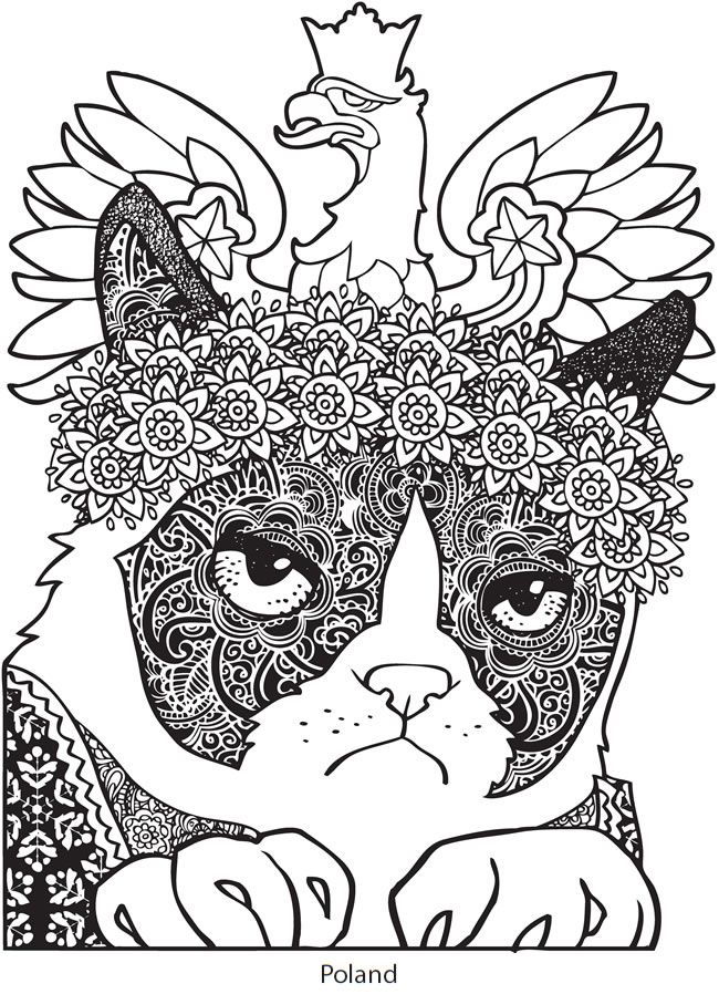 Welcome To Dover Publications Ch Grumpy Cat Vs The World Cat Coloring Page Cute Coloring Pages Cat With Blue Eyes