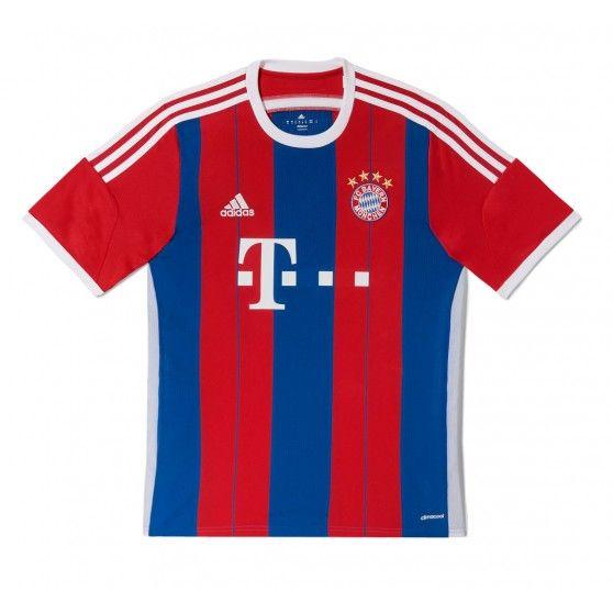 Dit is de juniorversie van het 2014/2015 @adidas #thuisshirt van FC Bayern München. Dit is een replica van het shirt waarin de Duitse ploeg aantreedt in de eigen Allianz Arena. #dws