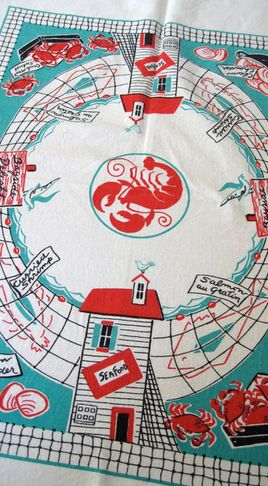 vintage table linens - Google Search