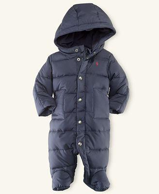 d6abd6e8d Ralph Lauren Baby Snowsuit, Baby Boys Down Snowsuit | bbb...baby | Baby  snowsuit, Baby boy, Snow suit