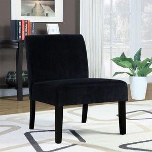 Monarch Specialties Crocodile Velvet Accent Chair, Black
