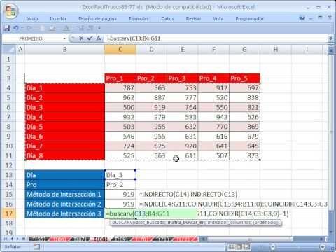 ▶ Excel Facil Truco #68: Buscar con 2 criterios con BUSCARV y COINCIDIR - YouTube libro de trabajo: http://www.excelfacil123.com.ar/ Buscar con 2 criterios,Busqueda de doble entrada con BUSCARV y COINCIDIR.  Twitter: http://twitter.com/ExcelFacil123 Facebook: https://www.facebook.com/pages/Excel-F%C3%A1cil/370567826406025 Excelisfun: http://www.youtube.com/user/ExcelIsFun?feature=watch