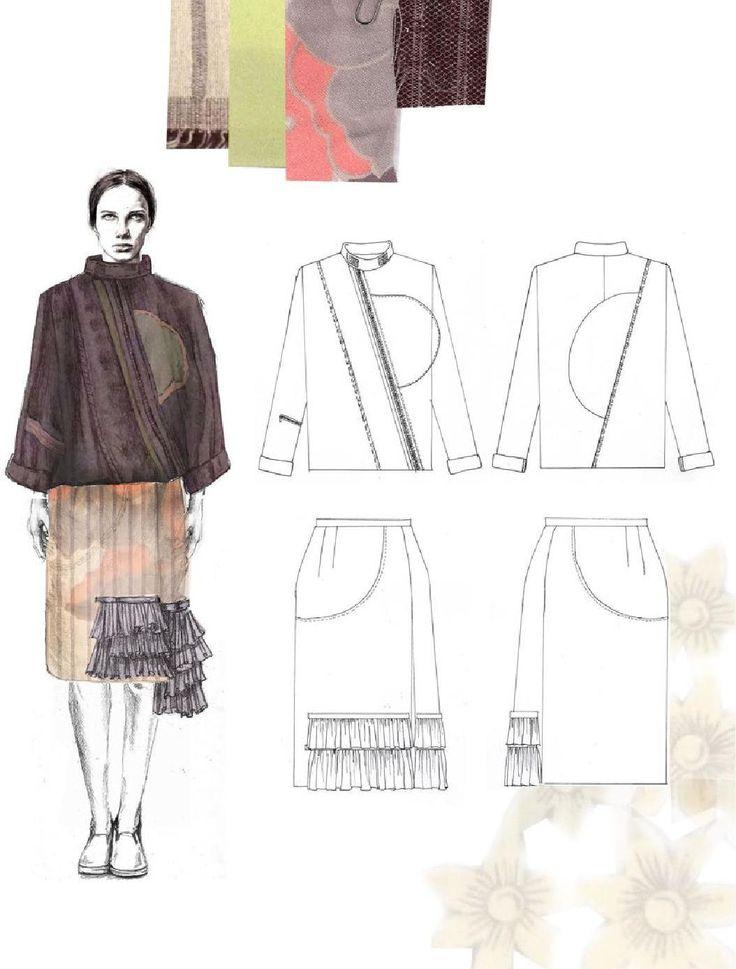 Fashion Sketchbook - fashion illustration; fashion student portfolio // Emma Berry