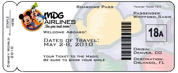 Printable Boarding Pass Template Airline Ticket Envelope