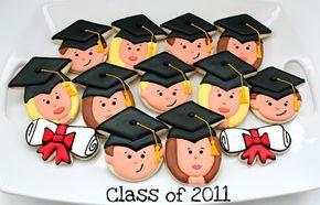 Happy Graduate Face Cookies