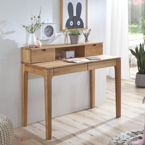 Maja-Schreibtisch-mit-Aufsatz-Maja-Eiche-massiv-geoelt