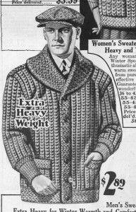 1928 Heavy Shaker Knit Sweater- http://www.vintagedancer.com/1920s/1920s-mens-sweaters/