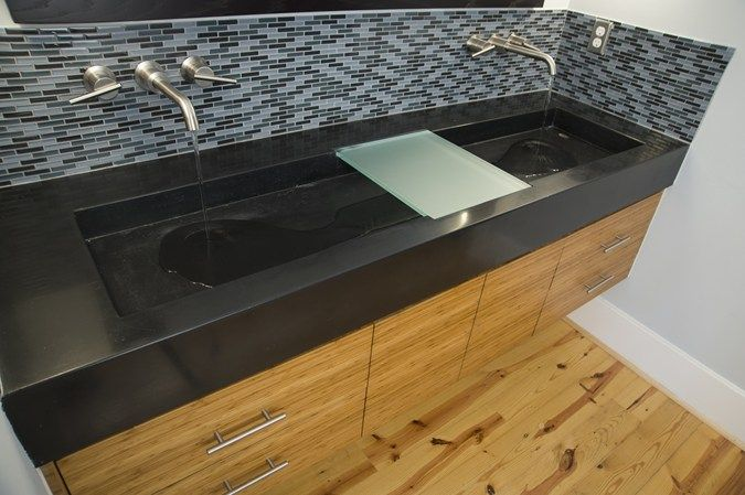 Black Double Concrete Sink Reaching Quiet In Charlotte Nc 12 27 13 Concrete Picture Of