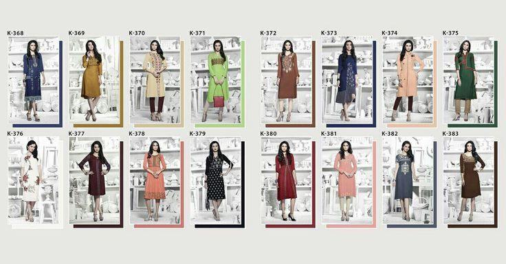 Brand - #Eternal ( #Top dot). Type - #Kurti . Series - #K 368 to K 383 Total 16 PCs in one set.  For Enquiry and Order: #WhatsApp +917878817191 #Dealer #Manufacturer #Saree  #Suit #Leggings #Kurti #Lehenga #Gown #Eternal #Top_Dot #k-368 #series #DesignerKurti #CasualKurti #PrintedKurti #AnarkaliKurti #ShortKurti #LongKurti #Tops #WesternKurti #HeavyWorkKurti #DigitalPrintedKurti #EmbroideryWorkKurti #StoneWork #BookYourOrder #the #style  #TheStyle  #www.thestyle.in #www.textile-bazar.com