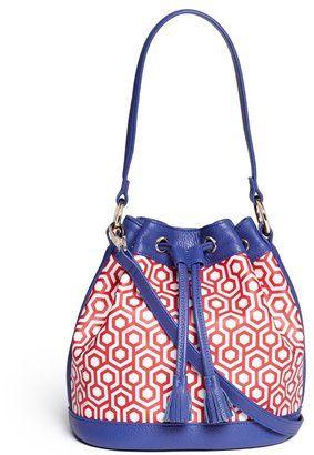 MISCHA 'Mini Bucket Bag' in classic hexagon print #1010ParkPlace