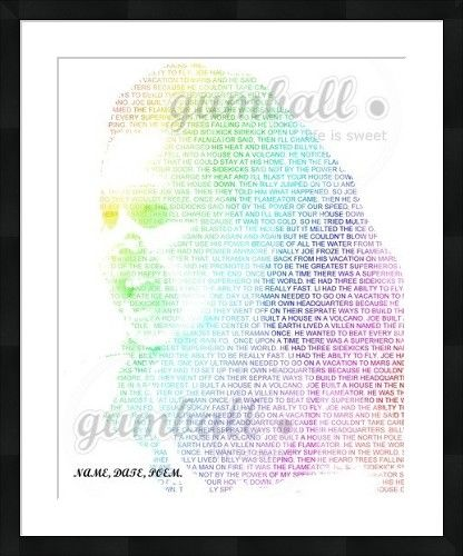 Word wrap photo Personalized for your photo and your quote created by Gumball Prints
