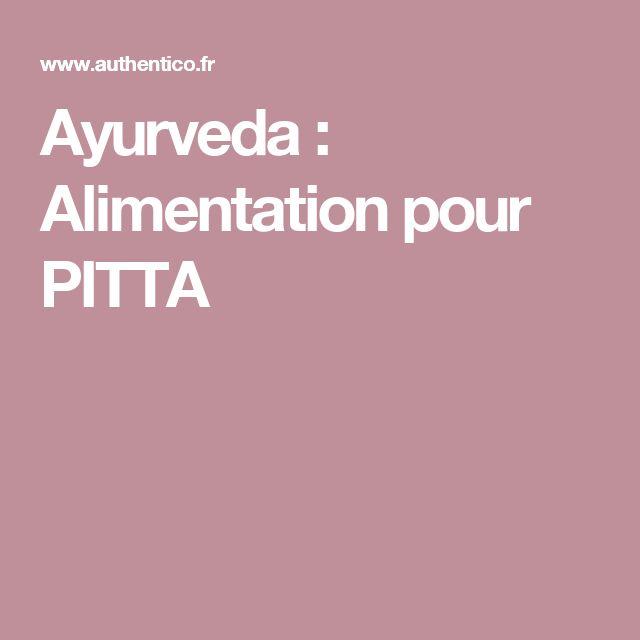 Ayurveda : Alimentation pour PITTA