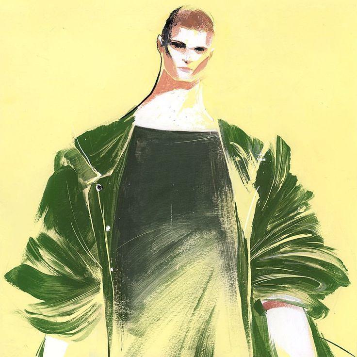 Illustration.Files: Versace S/S 2017 Fashion Illustration by Renshou Zhang