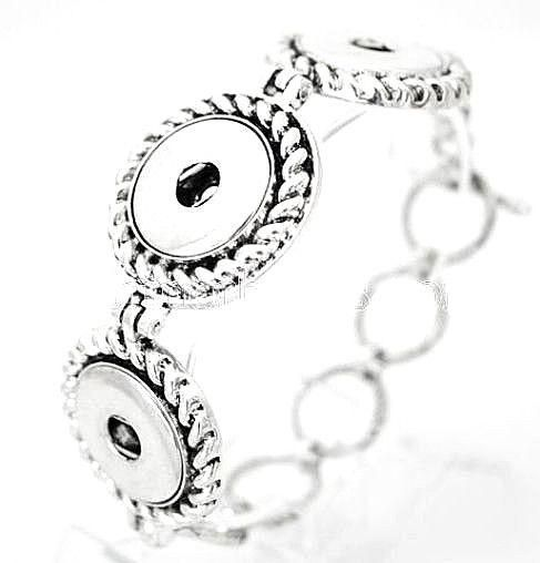 Silver Triple 18-20mm Snap Interchangeable Bracelet Jewelry For Ginger Snaps