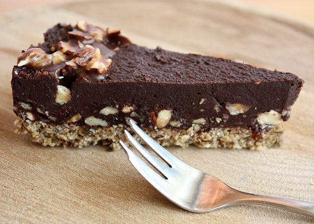 Extra čokoládová torta bez múky, cukru a pečenia