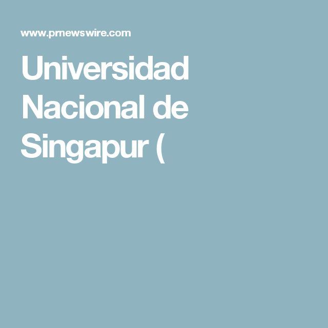 Universidad Nacional de Singapur (