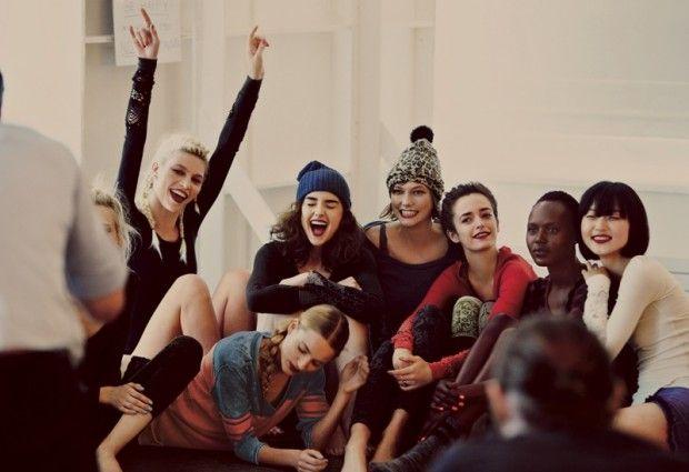 nice Karlie Kloss, Aline Weber, Cristal Renn e mais para o catálogo de Setembro 2013 da Free People