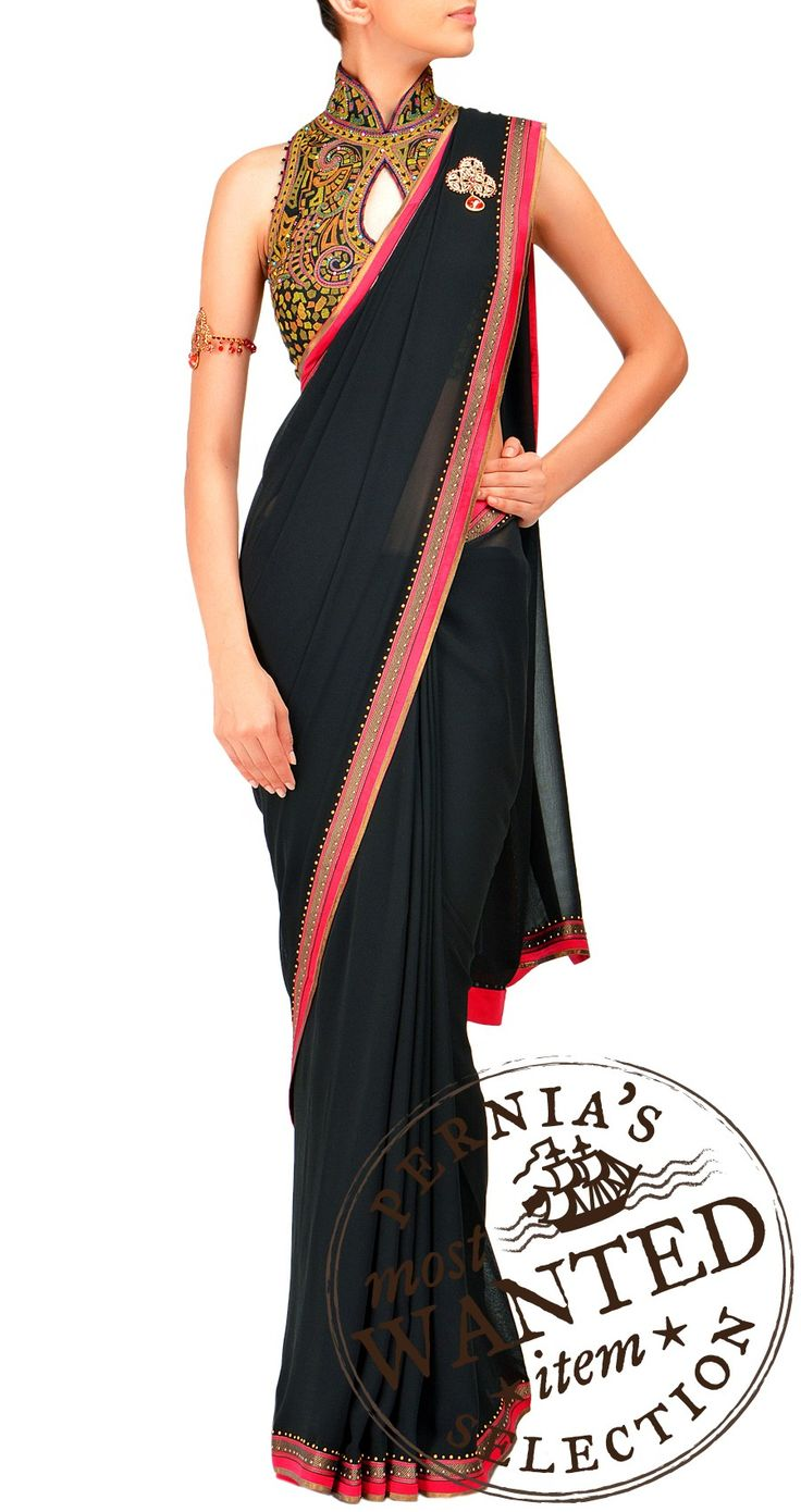 Classic black saree - must have!! by Tarun Tahiliani