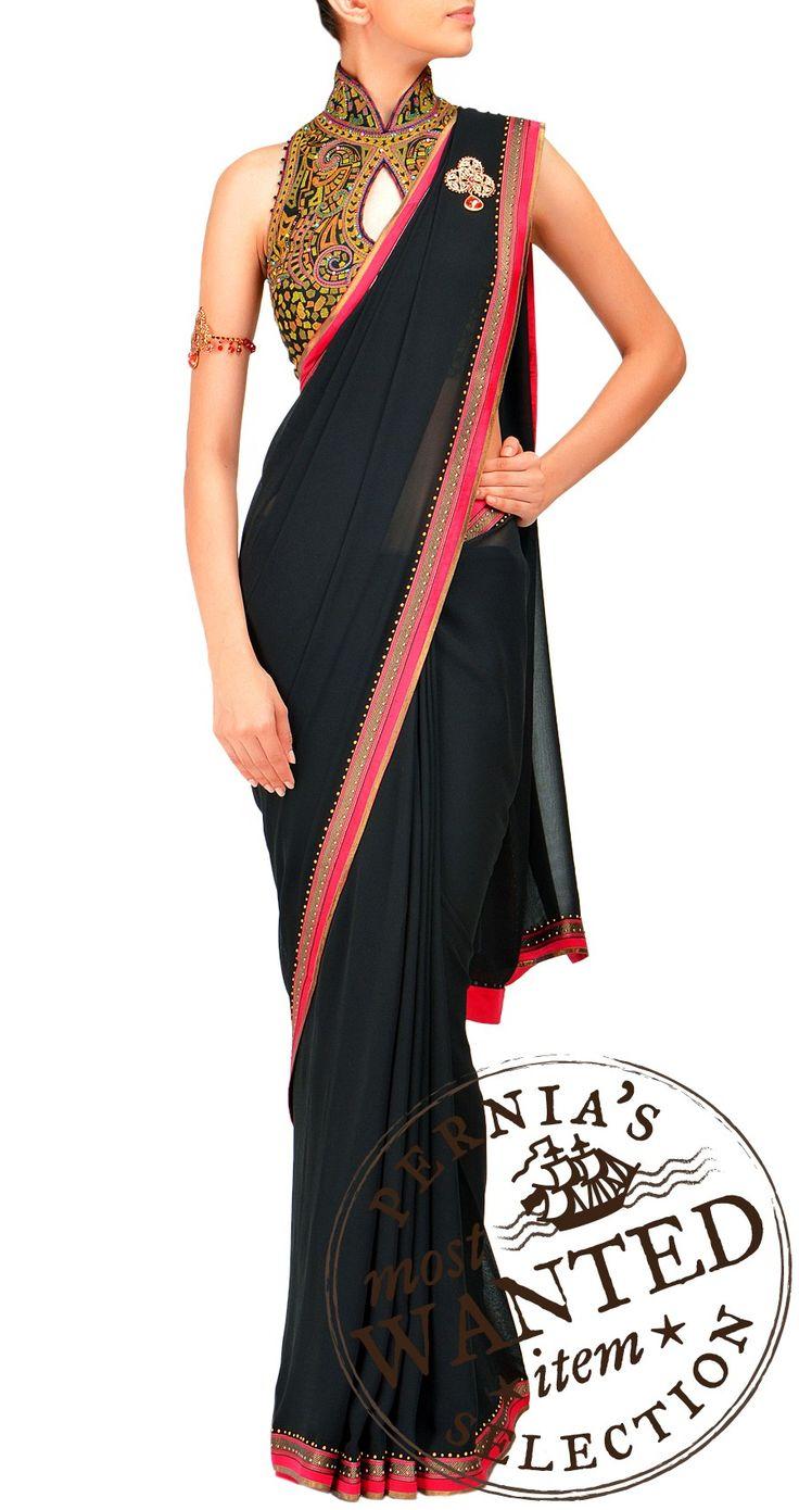Classic black saree - must have!! by Tarun Tahiliani