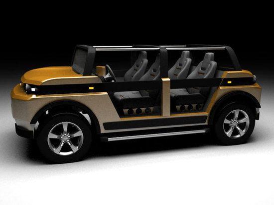 """""""Aguará"""", el primer vehículo eléctrico paraguay - Taringa! Increíble, parece un land Rover! GEM tiene un vehículos para 6 personas!"""