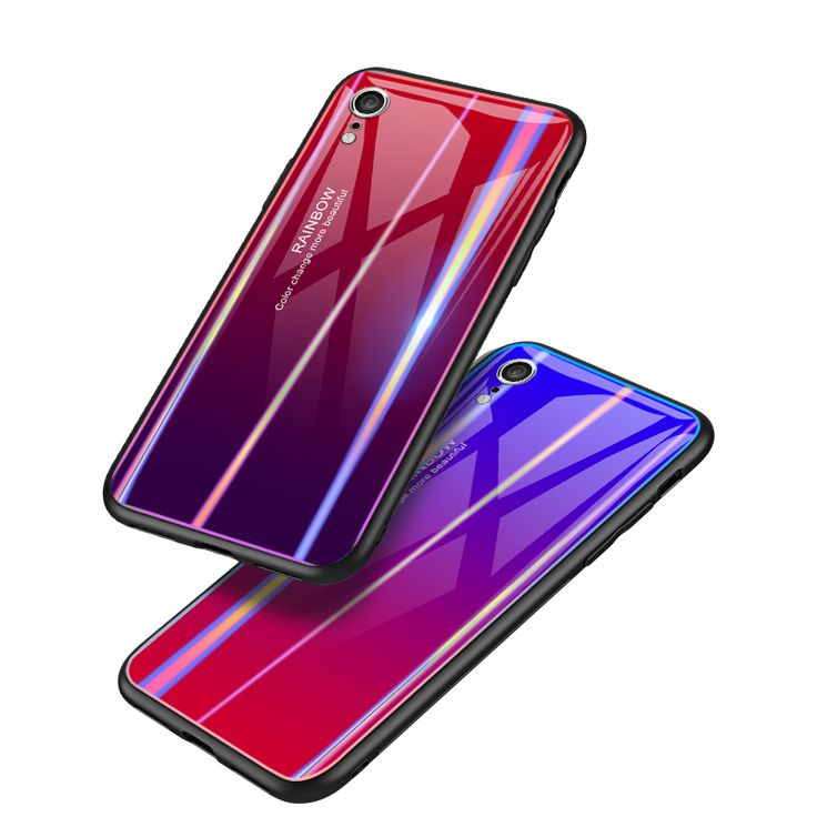 Bakeey laser gradient tempered glass protective case for