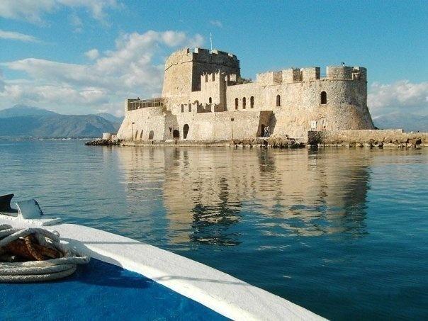 VISIT GREECE  The #Castle of #Palamidi #Nafplio was built in the sea, Argolida, Peloponnese