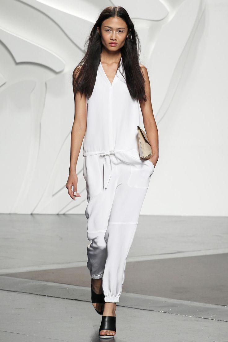 Look 32 Tibi Spring 2014 #NYFW #white #jumpsuit