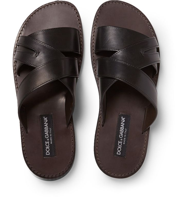 Dolce & Gabbana - Leather Sandals | MR PORTER