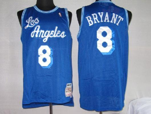 Mitchell and Ness Kobe Bryant NBA LA Lakers Blue Jersey   Los ...