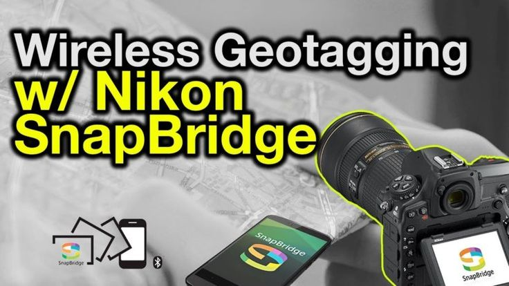 https://www.youtube.com/watch?v=0oaSbnv50Hs&feature=youtu.be&utm_content=buffer51bc0&utm_medium=social&utm_source=pinterest.com&utm_campaign=buffer Carrying around a second GPS unit is now a thing of the past thanks to Nikon's SnapBridge. The Bluetooth based system uses little energy and offers the ability to geotag any photographs captured by a SnapBridge enabled camera with no effort. Simply turn on the camera, open the app on your iOS or Android……