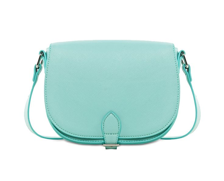 Crossbody Saddle Bag by EZRA by ZALORA. Lovely pastel mint color bag, one main compartment, magnet button closure, lined interior, shoulder strap 49 cm, a cute pastel bag for you to wear every day, this bag is a mustt if you love pastel color.   http://www.zocko.com/z/JHQlQ