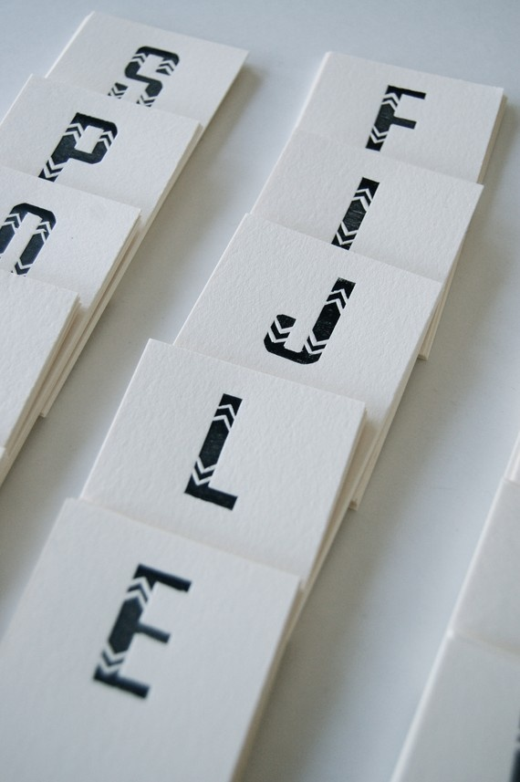 Handsome letterpress cards via hand carved wood type (by in haus press)