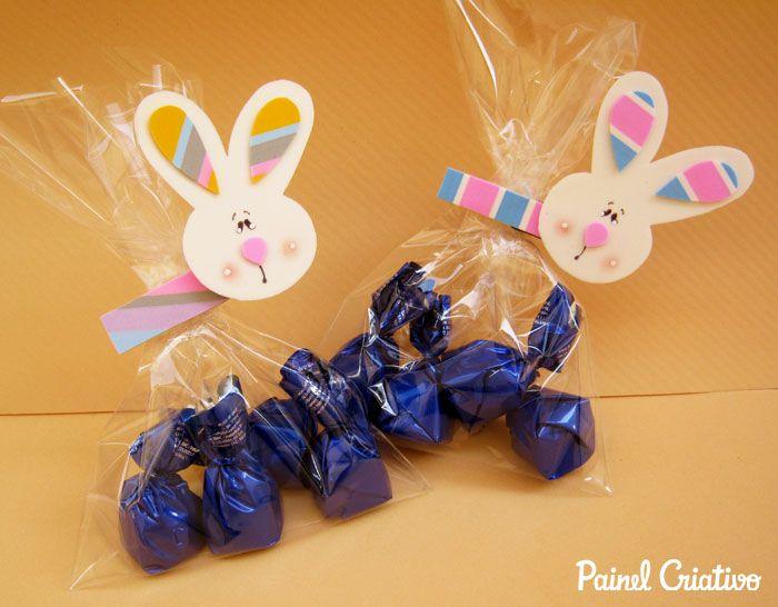 Lembrancinha Pascoa Coelhinho Porta Guloseimas Chocolates