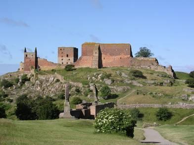 The castle ruin of Hammershus, Bornholm, Denmark