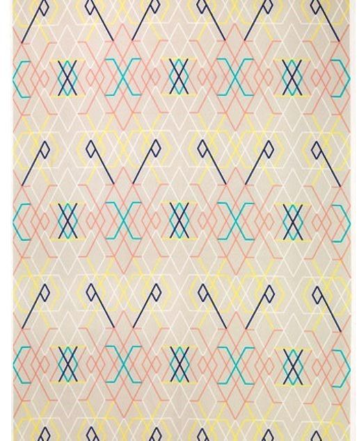 Beige Geometric  IKEA PS 2014 Cotton Fabric by momentintime, $9.00