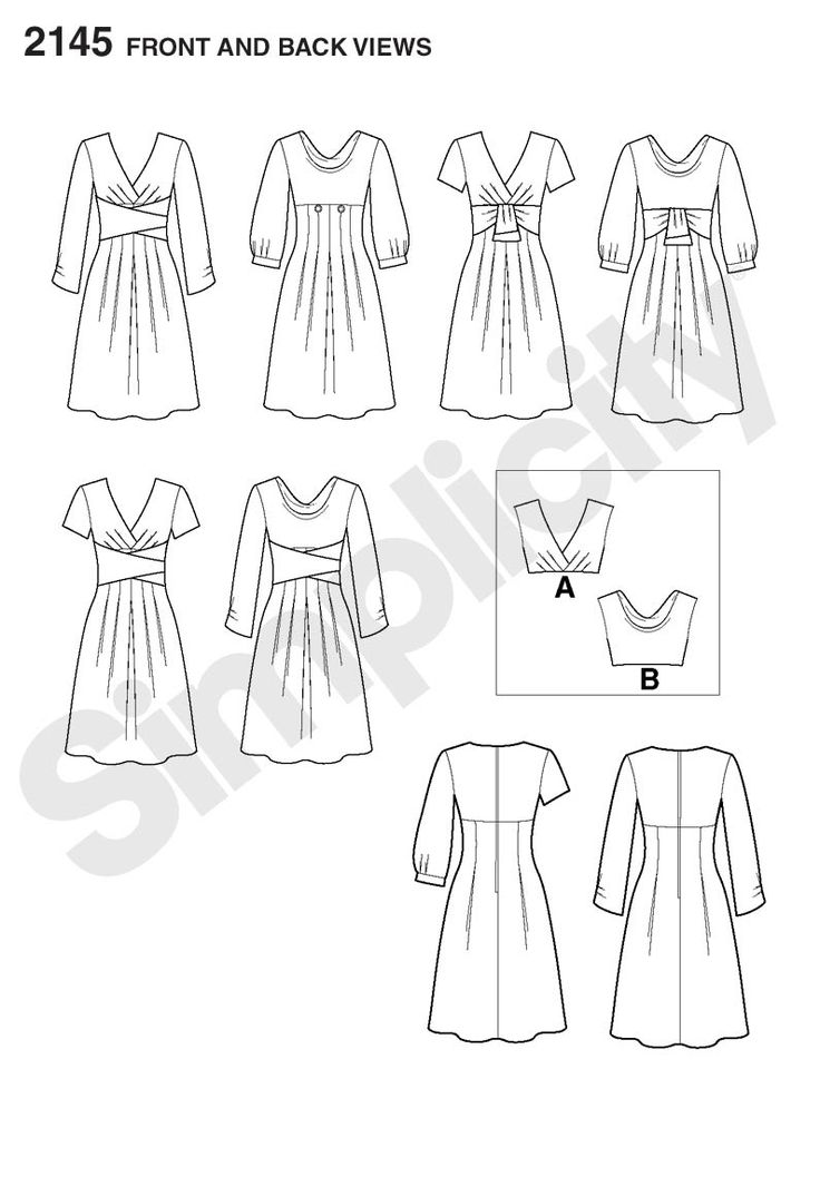 Simplicity Creative Group - Misses' Dresses. Project Runway Collection: