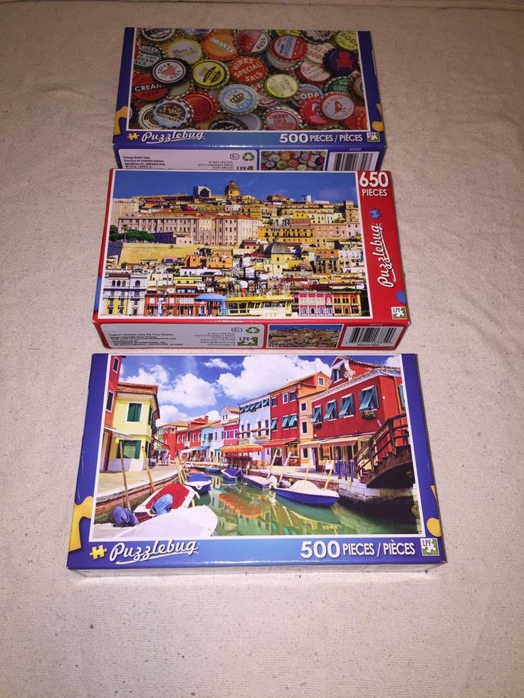 Lot 3 Puzzlebug 500u0026 650 Piece Jigsaw
