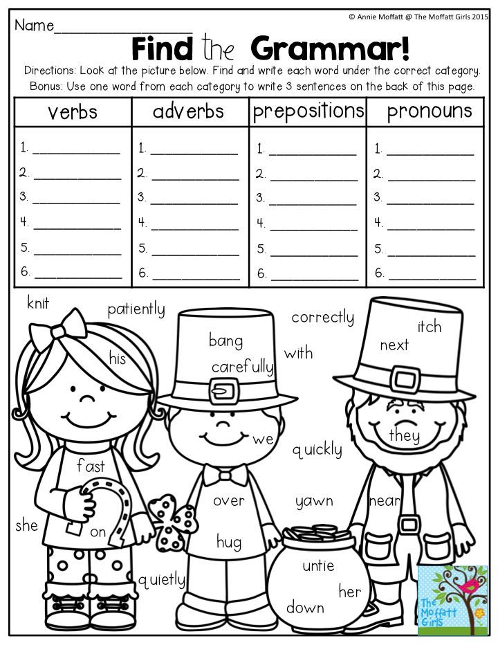 Find the Grammar! Such a FUN way to practice parts of